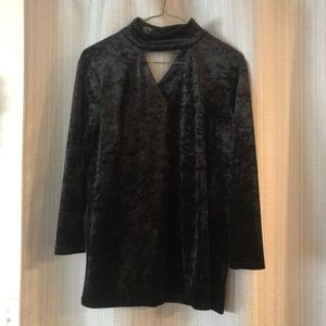 Jones New York Velvet Blouse